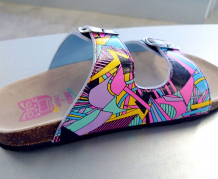 Footwear design: Sandal Graphic Print