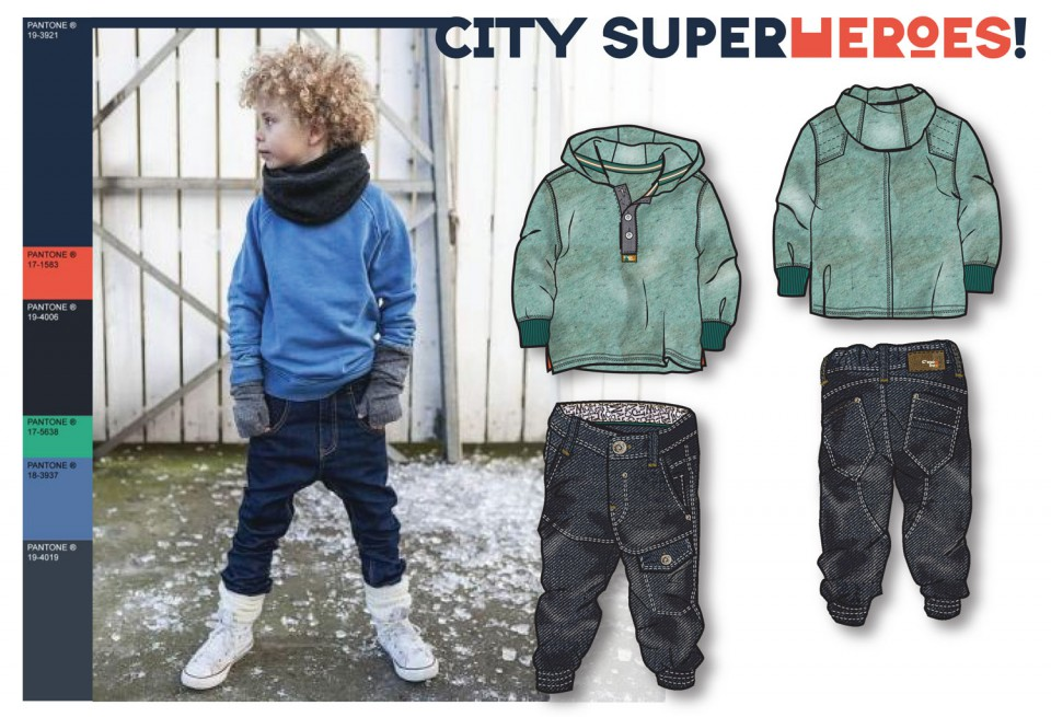 Free work: Kids Fashion Design - City Super Heroes