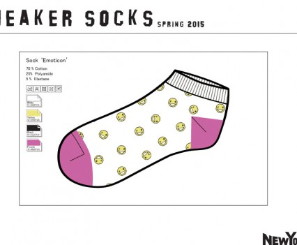 Sneaker Socks design concepts for New Yorker
