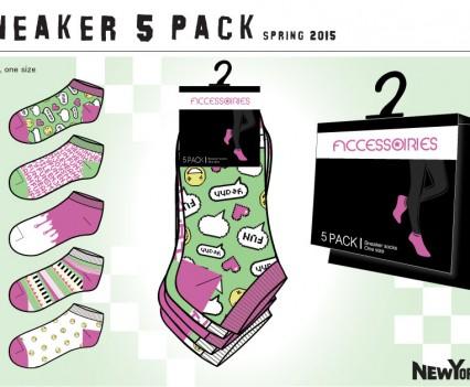Sneaker Socks design concepts for New Yorker