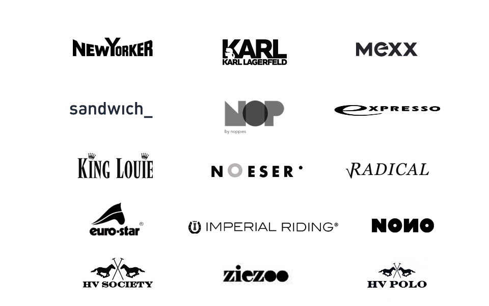 Some of the Design Deluxe Clients: NONO, Expresso, Karl Lagerfeld, Mexx, Radical, Sandwich, King Louie, Noeser, Nop by Noppies, Euro-Star, Imperial Riding, HV Society, HV Polo, Ziezoo